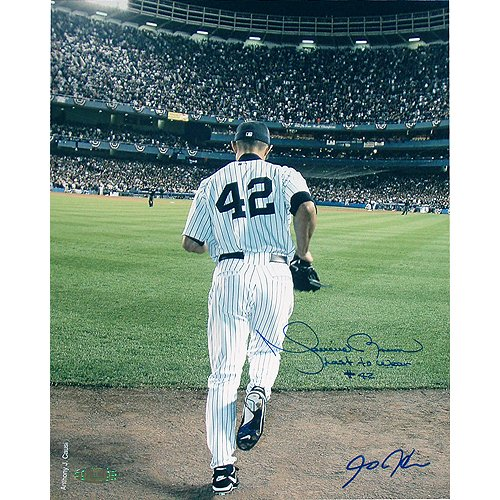 Mariano Rivera Entering Game - Mariano Rivera 2006 Entering The Game Color Autographed 16 Inch X 20 Inch Photo W/last To Wear #42 Inscribed Autographed By Anthony Causi