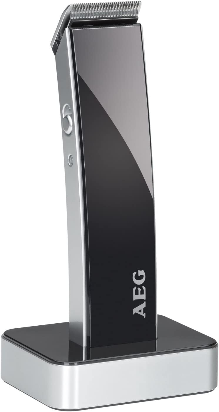 AEG HSM/R 5638 - Cortapelos para cabello y barba, batería recargable, color negro