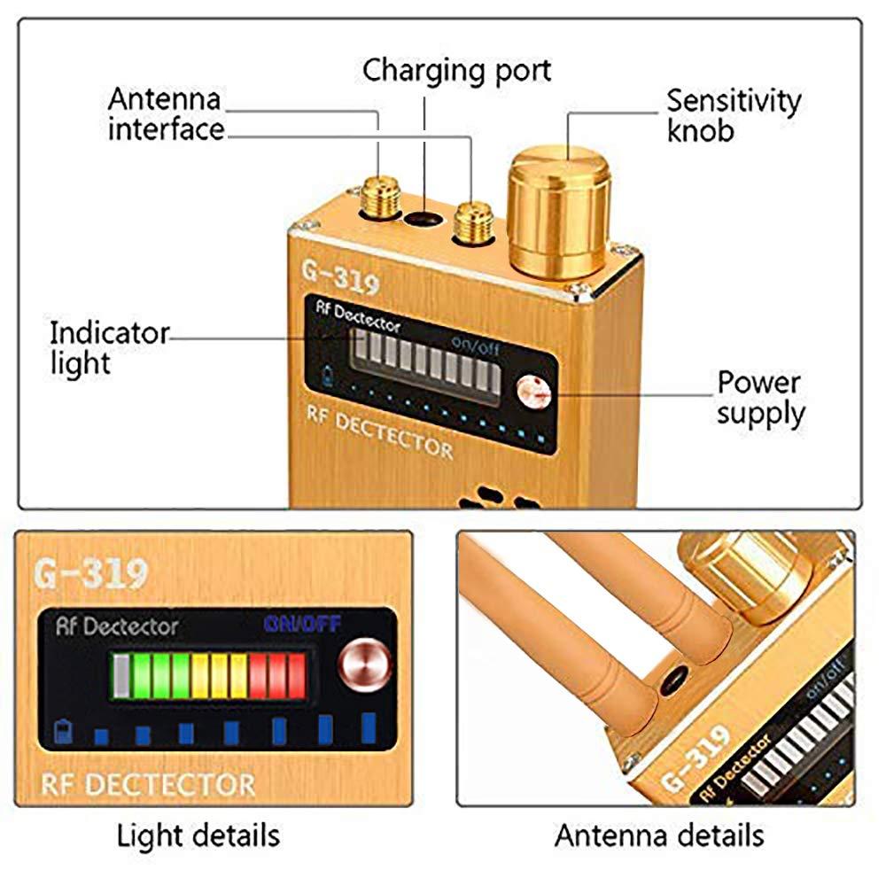 Giallo Anti Spy Rilevatore RF Camera Finder Bug Detector Dispositivo di Localizzazione GSM per Rilevatore di Telecamera Nascosta Senza Fili