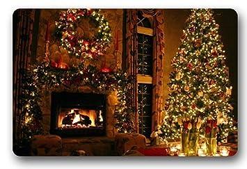 Encanto casa standard-store personalizado Cartoon Cute diseño de chimenea de Navidad se puede lavar