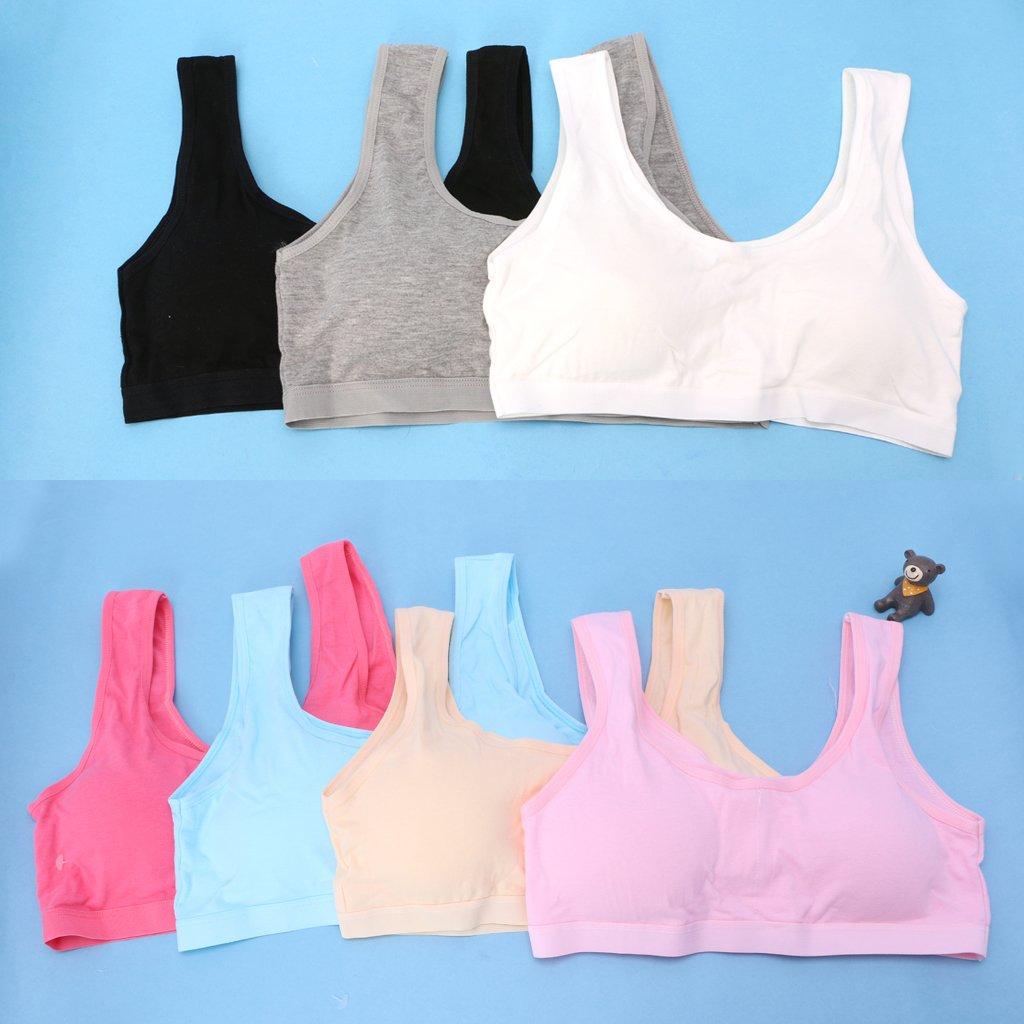 f4750982dc34e Lunji Soutien-Gorge sans Armatures Coton Confortable - Brassieres Fille 8-16  Ans