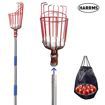 Harrms Fruit Picker Pole Tool, 8 FT Fruit Picker with Lightweight Aluminum Telescoping Pole, Fruit Picking Equipment for Getting Fruits : Garden & Outdoor