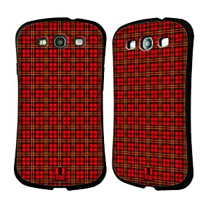 Head Case Designs Red Green Plaid - Pattern Collection Hybrid Case for Samsung Galaxy S3 III I9300