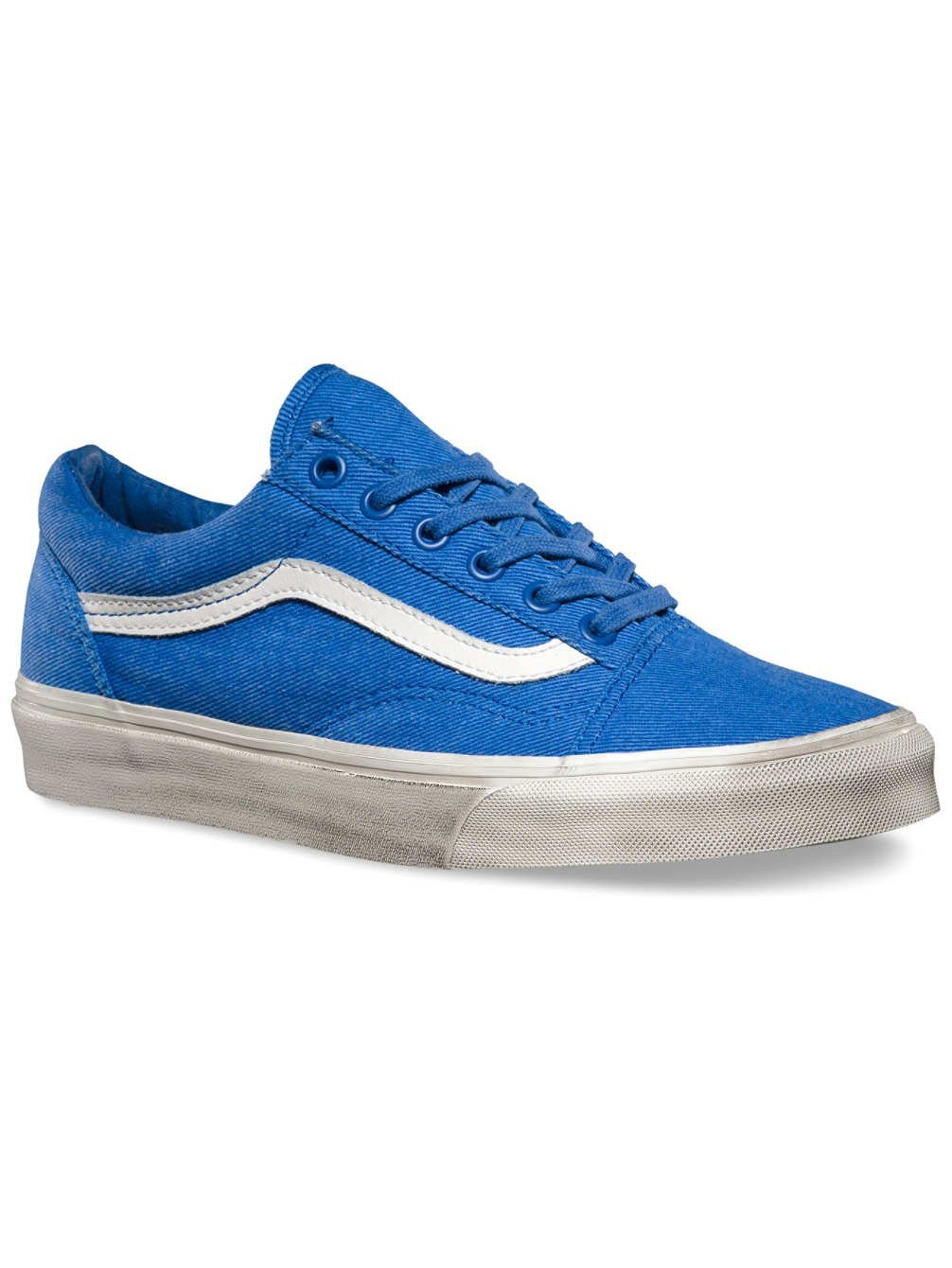 Vans U Old Skool - Zapatillas de Deporte de canvas Unisex 39.5 EU|Blau - (overwashed) nautical blu