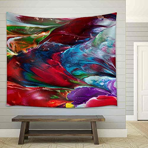Picture Abstract Painted as Multicolor Background Fabric Wall