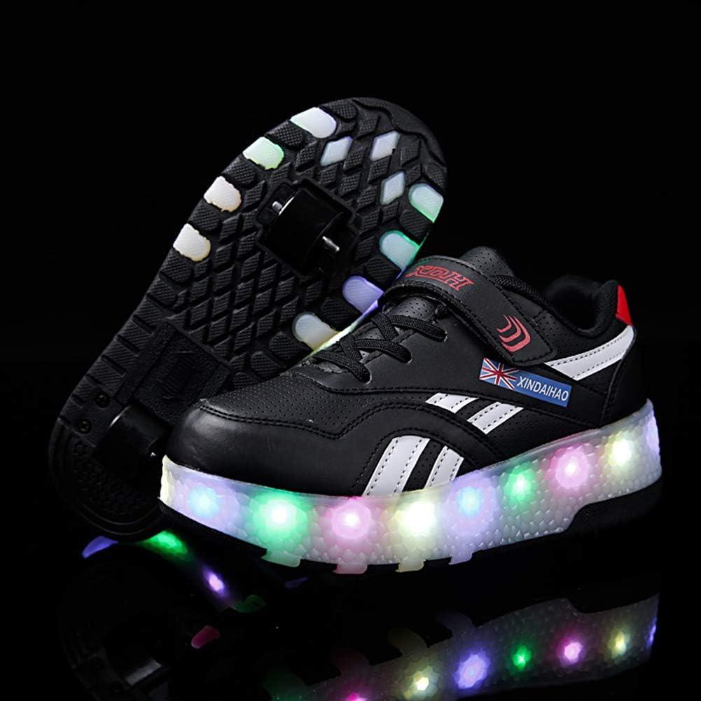 WYEING. LED Zapatos Verano Ligero Transpirable Bajo 7 Colores USB Carga Luminosas Flash Deporte De Zapatillas con Luces Los Mejores Regalos para Niñas Niños Cumpleaños,Negro,26: Amazon.es: Deportes y aire libre