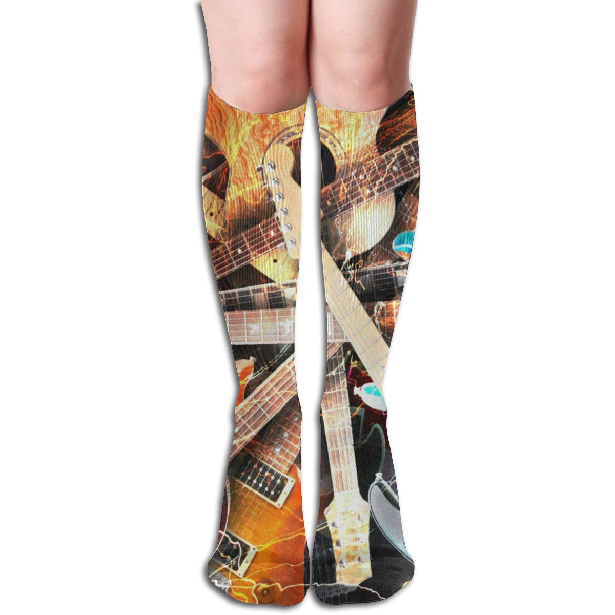 Girls Socks Over Knee Magical Outer Space Winter Warmth Inspiring For Party