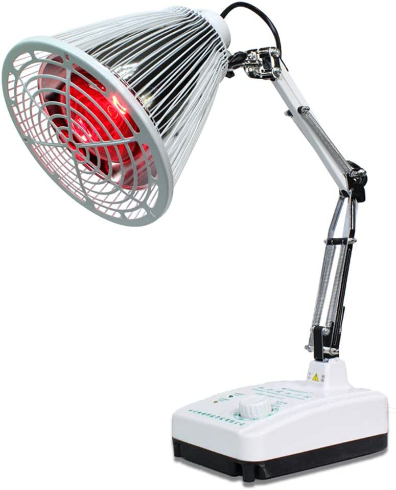 YLTTZ TDP Desktop Lamp Far Infrared Heat 100W for Thermotherapy Muscle Pain Relief Improve Blood Circulation Adjustable Arm and Temperature 220V