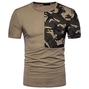 Camiseta Hombres, ❤ Manadlian 2018 Camiseta casual para hombre Impresión de camuflaje Labor de