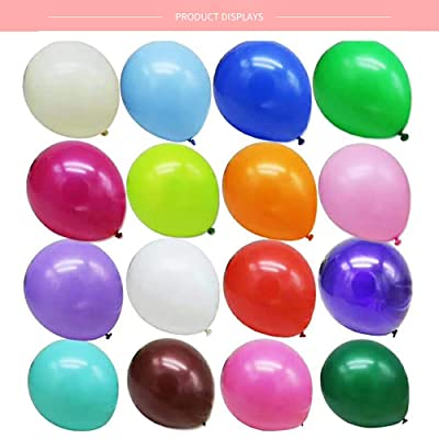 36 Party Balloons Rainbow Balloons Set Assorted Colored Metalliic Balloons