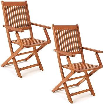 Set de 2 chaises de jardin pliantes \