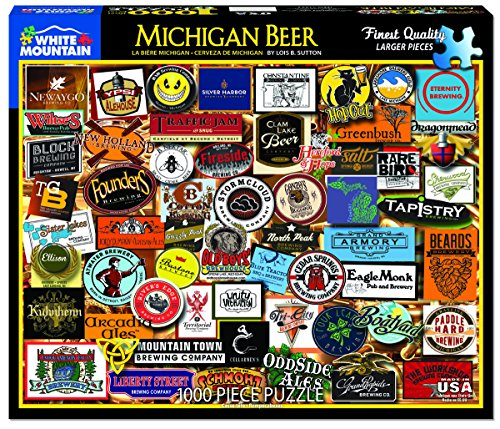 White Mountain Puzzles Michigan Beer - 1000 Piece Jigsaw Puzzle