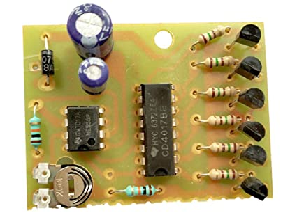 led chaser circuit, running light circuit, decad counter circuit for