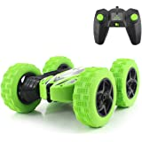 Fisca RC Car Remote Control Stunt Car, 4WD Monster Truck Double Sided Rotating Tumbling - 2.4GHz High Speed Rock Crawler Vehicle with Headlights
