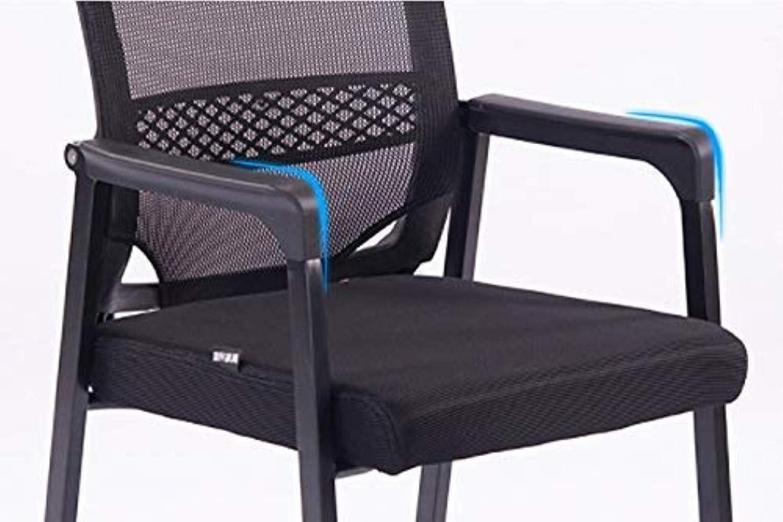Skrivbordsstolar kontorsstol datorstol hem student sovsal ryggstol komfort kvadrat kontor (färg: svart) Svart