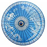 SSBY Tang dynasty-style retro umbrella, Lung Su Ching Cheung umbrella, Chinese style blue red , blue