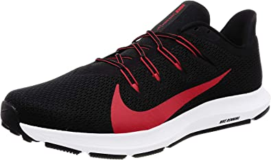 Nike Mens Quest 2 Black University RED White Size 10