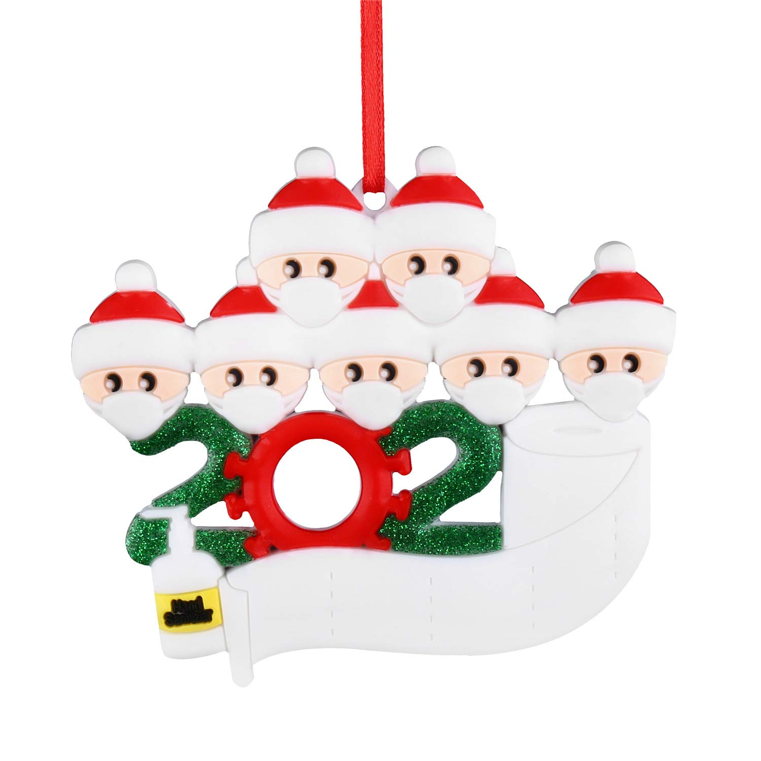 Special 2021 Holiday Christmas Ornaments Buy Eseres Quarantine Family 2021 New Year Christmas Ornament Family Members Personalized Xmas Decor Gifts Six Family Members Online At Low Prices In India Amazon In