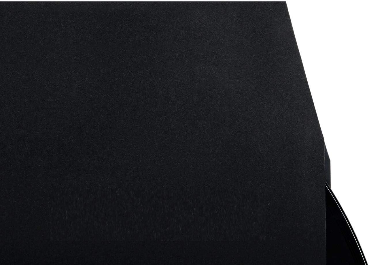 Schallplatteninnentasche con Corte de Esquina 31-25E Negro 25 St/ück 80g Vinylnerds LP Funda Interior con Orificio Central Forrado con Antiest/ático Pel/ícula