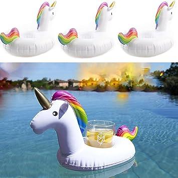 logas - Soporte Hinchable para Vasos de Unicornio con Diseño ...