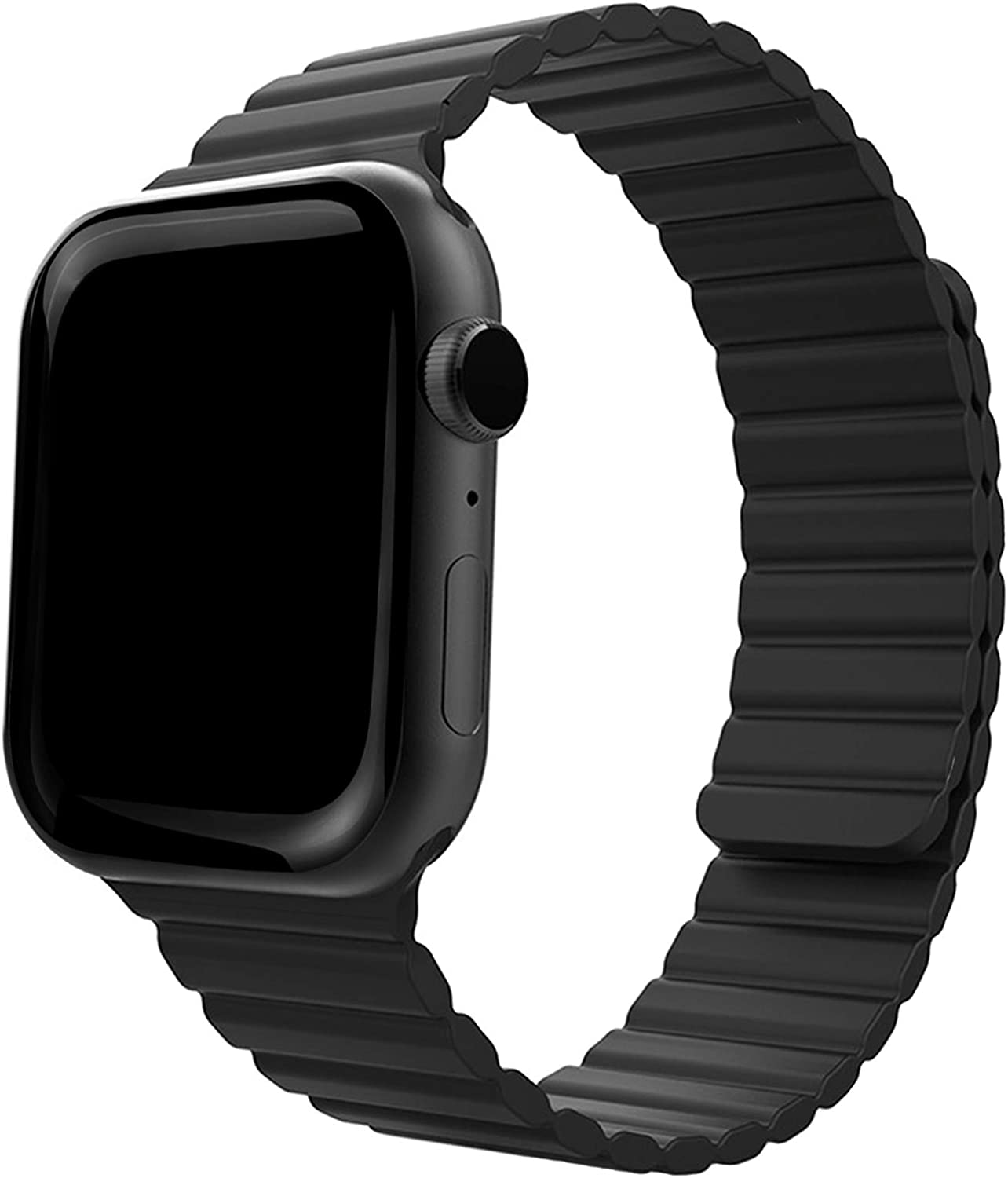 Silicone Magnetic Watch Bands for Apple Watch 42mm 44mm ONELANKS Adjustable Loop Strap with Strong Magnetic Closure for iWatch Series 6 5 SE 4 3 2 1