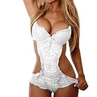 MVPKK ♥ Lingerie Femme - Lingerie Sexy Femme Dentelle Bandage sous-vêtements Mode Chic Bowknow Tentation Vêtements de Nuit Erotiques Babydoll