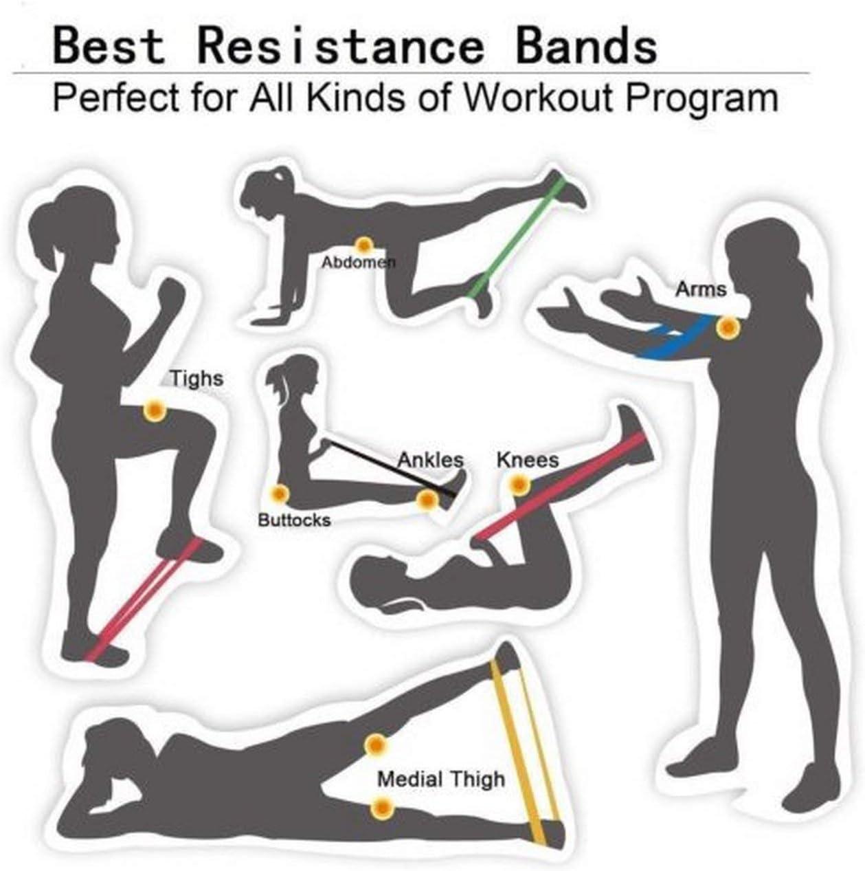Ballylelly Boucle de Bande de Tension de r/ésistance de Yoga Yoga Pilates pour la Bande de r/ésistance dentra/înement /à la Maison de Remise en Forme