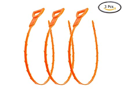 Vastar 3 Pack 19.6 Inch Drain Snake Hair Clog Remover Cleaning Tool NEW Tools