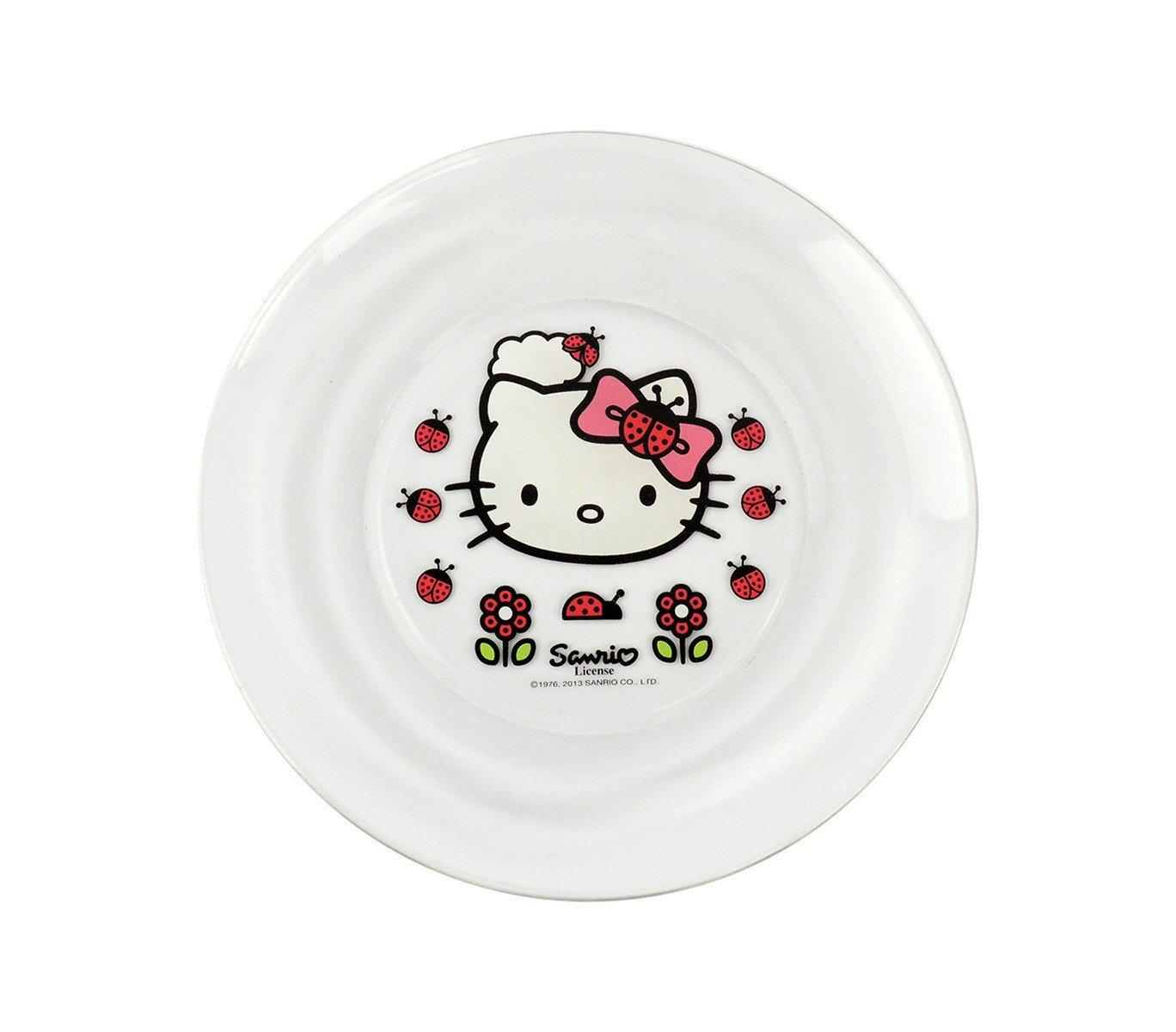MEDIA WAVE store HK7733 Set da Colazione Hello Kitty con Scodella Tazza e piattino in Vetro