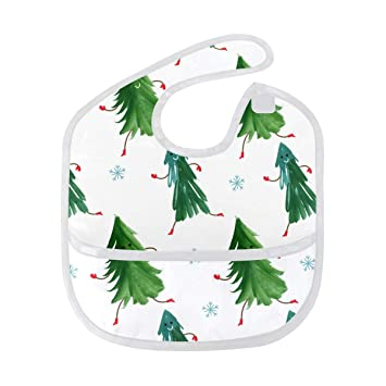 Christmas Tree Emoji.Amazon Com Baby Bibs Waterproof Cute Christmas Tree Emoji