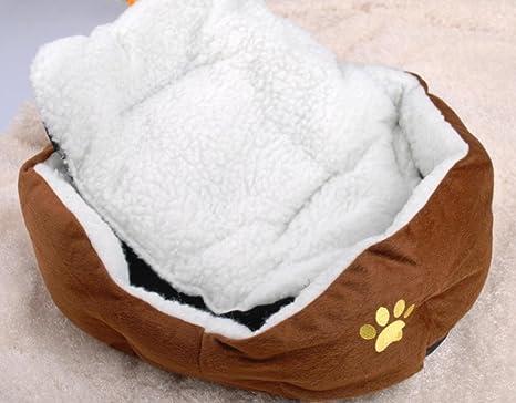 Camadas de gato cordero Terciopelo alfombra sofá perro cama nidos , brown , s