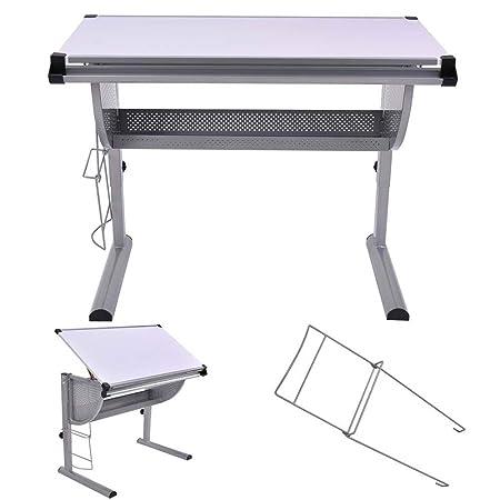 Mesa de dibujo inclinable, para redacción, altura y ángulo ...