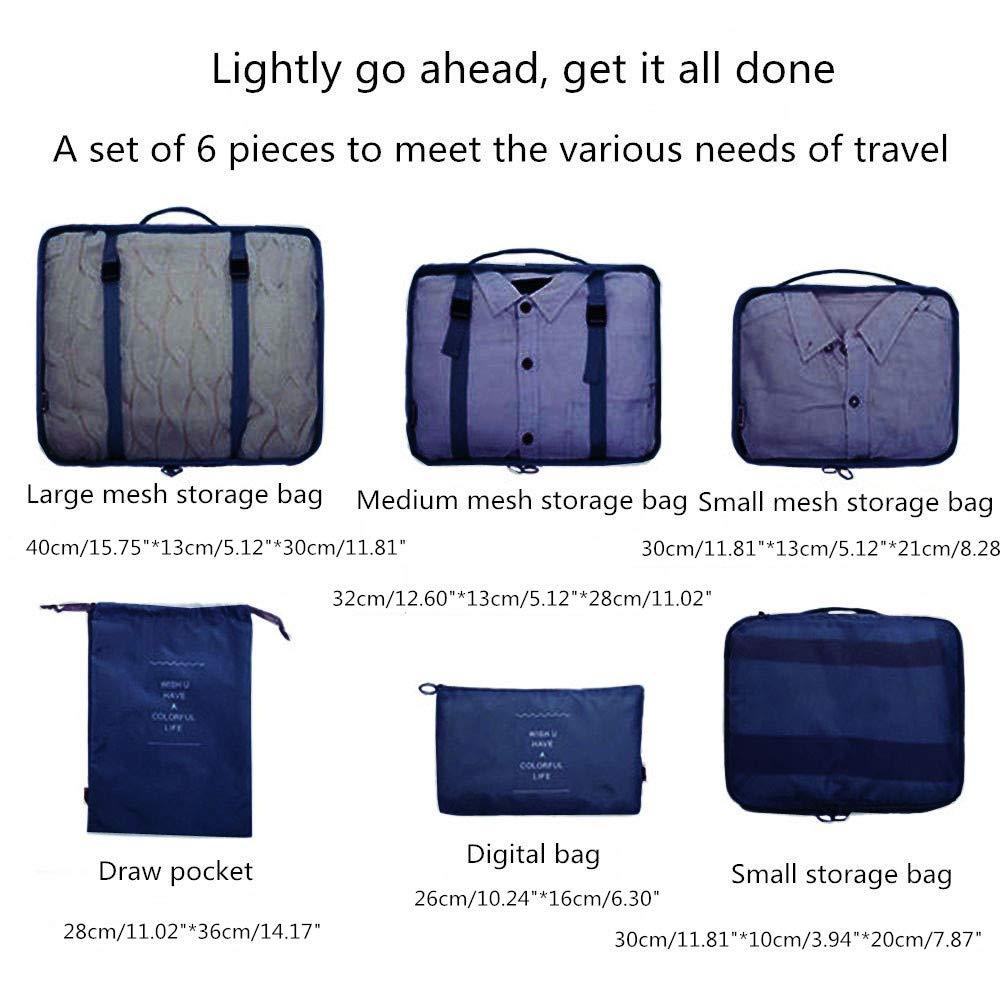 2 enveloppes 1 Sac pour Chaussures Set 7 Cubes pour Emballage -3 Cubes pour Emballage 1 enveloppe pour sous-v/êtements
