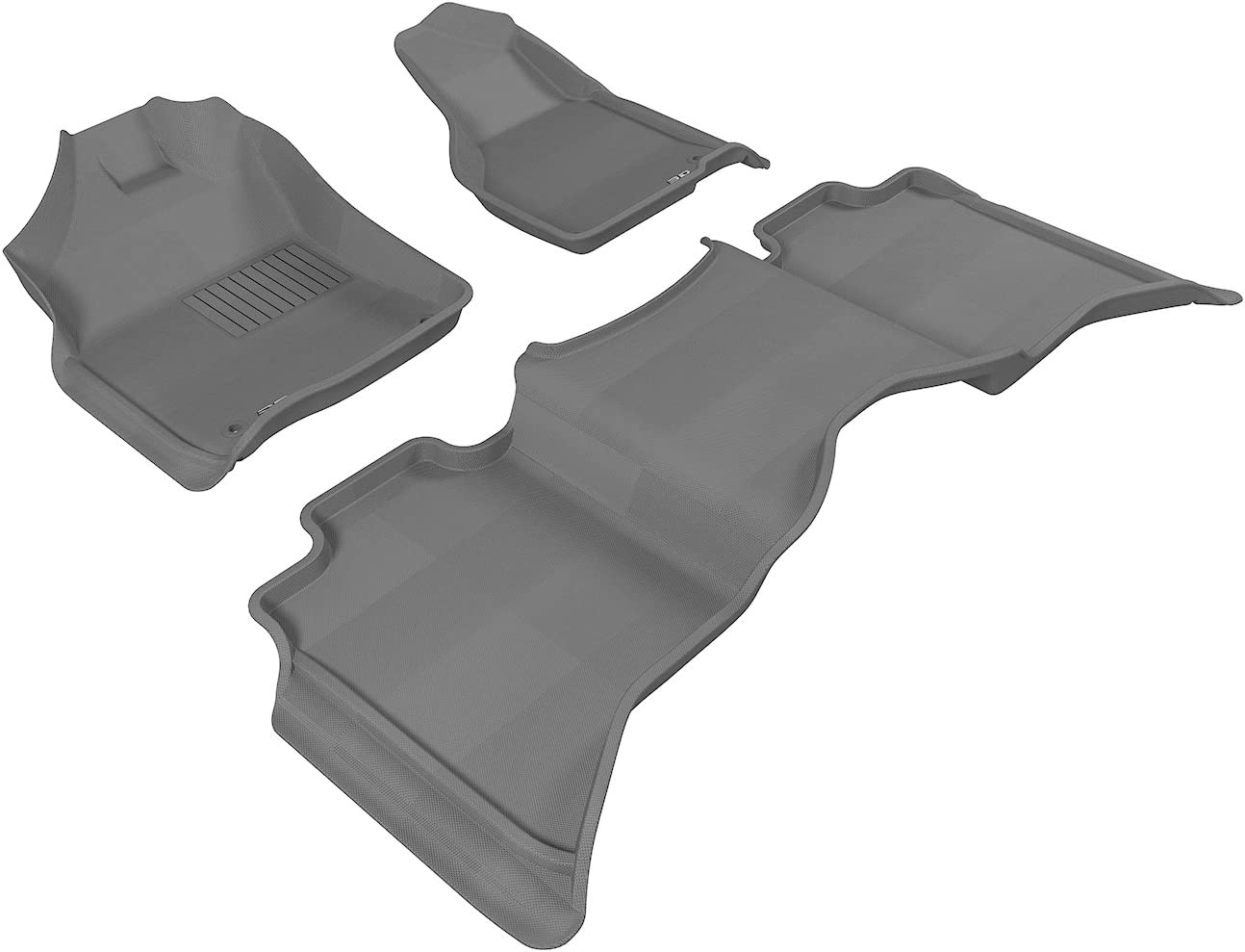 3D MAXpider Complete Set Custom Fit All-Weather Floor Mat for Select Dodge Models - Kagu Rubber (Gray) 61To-HXqszL