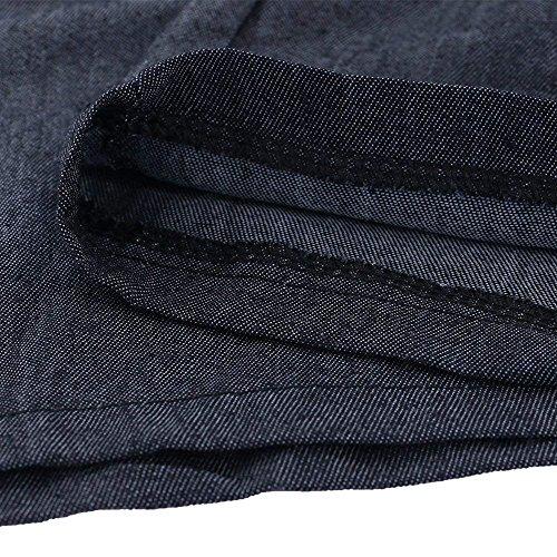 Grazioso Pantaloni Donna Women Nero Baggy Lunghe Vita Nero Tempo Pantaloni Trousers Di Elegante Palazzo Pantalone Elastica Libero Autunno Stoffa Giovane Moda H4naHvx