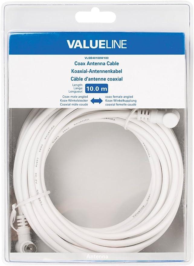 VALUELINE Cable Antena TV Macho-HEM