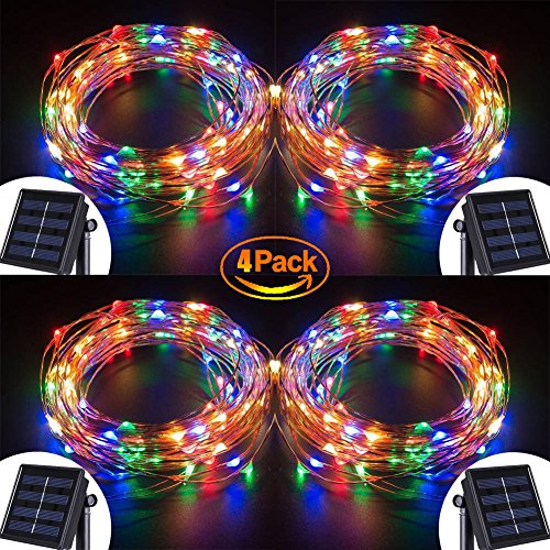 Solar String Lights, 100 LED Copper Wire Fairy Blinking T...