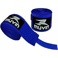 Bandagem Elástica Muvin 5 Metros Com Velcro e Alça Para Polegar - Atadura de Proteção Para Mãos e Punhos - Faixa de Boxe…
