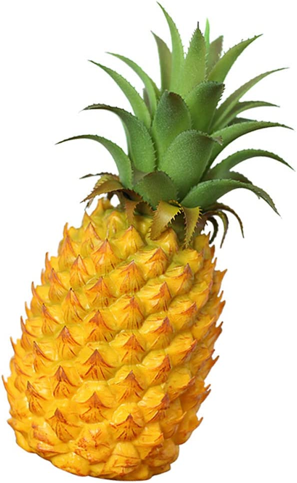 Longpro Realistic Pineapple, Artificial Fruits Fake Pineapple for Display Medium Size High Simulation Artificial Dummy Fruits Vegetables Studio Photo Prop DIY Decoration Accessories Food Toys