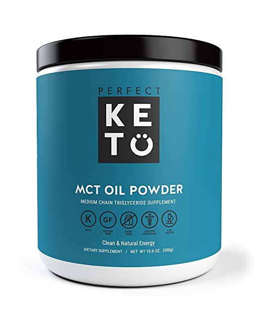 Perfect Keto MCT Oil Powder - Medium Chain Triglyceride (MCT) Oil Powder For Ketosis and Energy - Easier to Absorb and Digest, Made in USA
