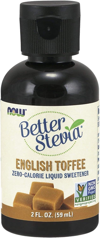 NOW Foods - Better Stevia Liquid Sweetener English Toffee - 2 oz.