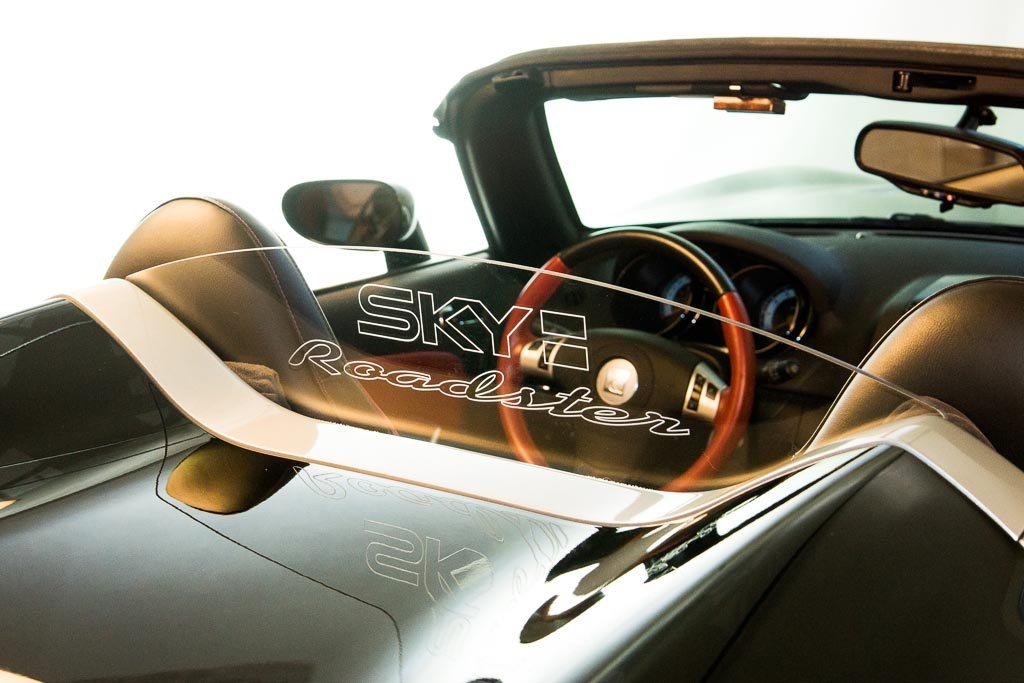 - Wind Deflector for Saturn Sky Convertible Clear w// SKY ROADSTER Engraving DEFLECTAIR