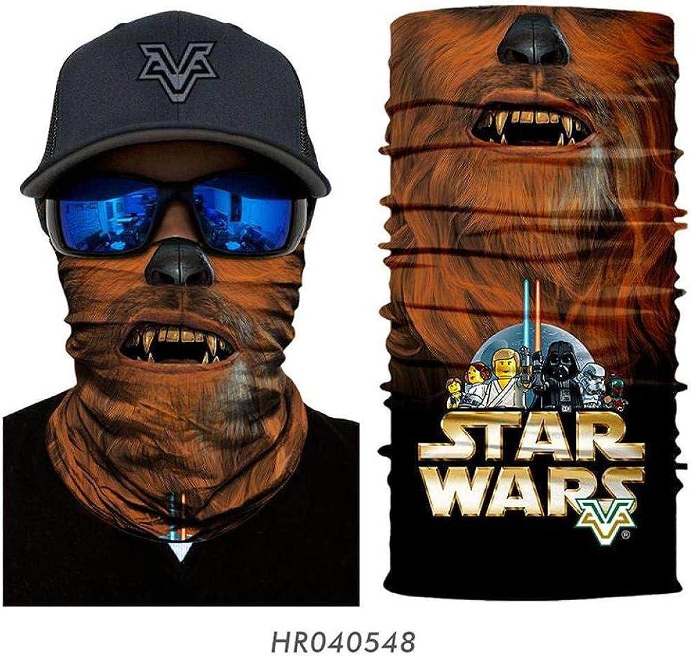 ZGHONG 3D senza cuciture Bandana Trekking Escursionismo Sciarpe The Star Wars Viso Fascia per capelli Sciarpa Collo Appassionati Equitazione Corsa Sci Passamontagna