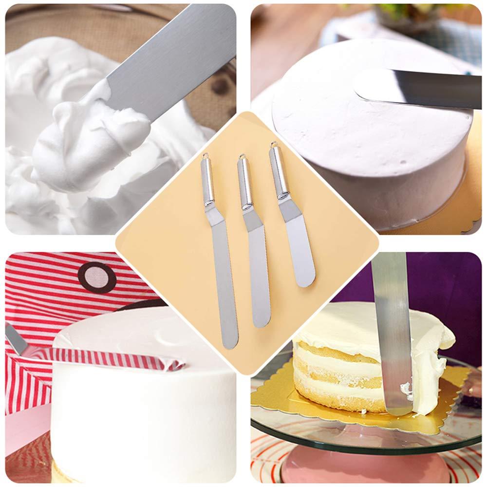 Tonver utensile da taglio indispensabile paletta con taglierina a lama dentata in acciaio inox per pizza e torte Acciaio inossidabile stainless steel 6Inch