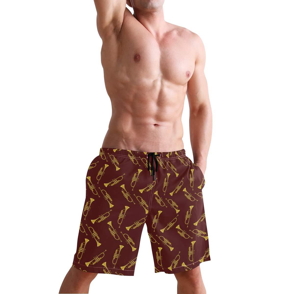DongDongQiang Men Summer Trumpet Quick Dry Volleyball Beach Shorts Board Shorts
