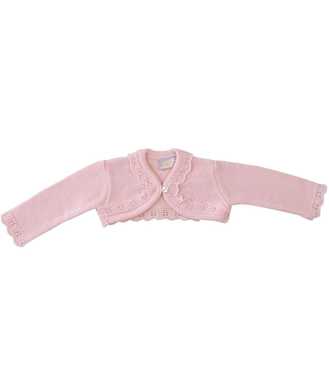 BabyPrem Baby Cardigan Jacket Acrylic Pink Cream Frilly Bolero 0-23 mths