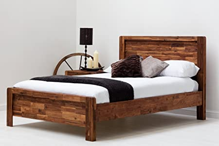 Chester Handcrafted Solid Wooden Bed Frame, Country Farmhouse Style ...