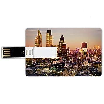 64GB Forma de tarjeta de crédito de unidades flash USB Decoración ...