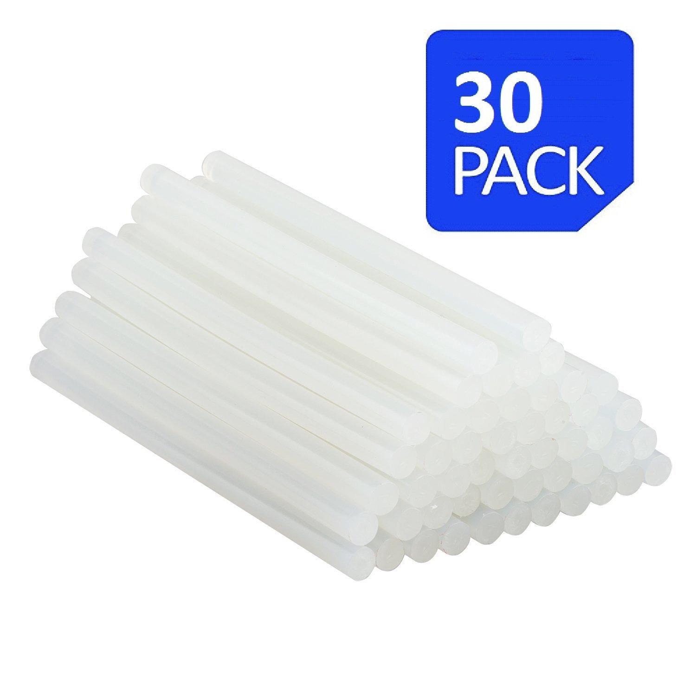 "MELTOX All Purpose Hot Glue Gun Sticks - Extra long all Temperature 7/16"" Diameter and 10"" Length Glue Stick - 30 Sticks per package"