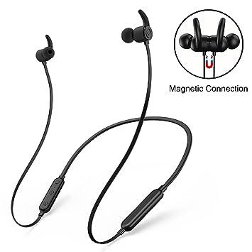 Auriculares Bluetooth, SAVORI CSR8645 Chip británico IPX5 Auriculares inalámbricos Deportivos Impermeable CVC 6.0 Cancelación de Ruido estéreo aptX con ...